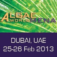 AlgaeWorld MENA February  25-26, 2013 – Dubai, UAE