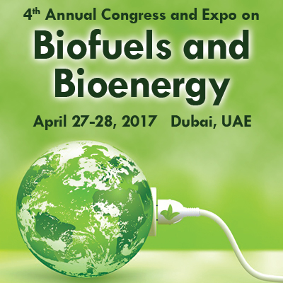 4th Annual Congress on Biofuels and Bioenergy   —   April 27-28, 2017   —   Dubai, UAE