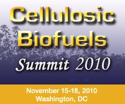 Cellulosic Biofuels Summit 2010 November 15-18 Washington, DC
