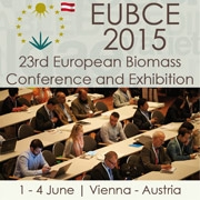 European Biomass Conference and Exhibition (EUBCE)  June 1-4, 2015   Vienna, Austria