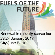 "14th International Conference on Renewable Mobility ""Fuels of the Future 2017""   —   January 23-24, 2017   —   Berlin, Germany"