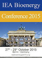 IEA Bioenergy Conference 2015 — October 27-29  — Berlin, Germany