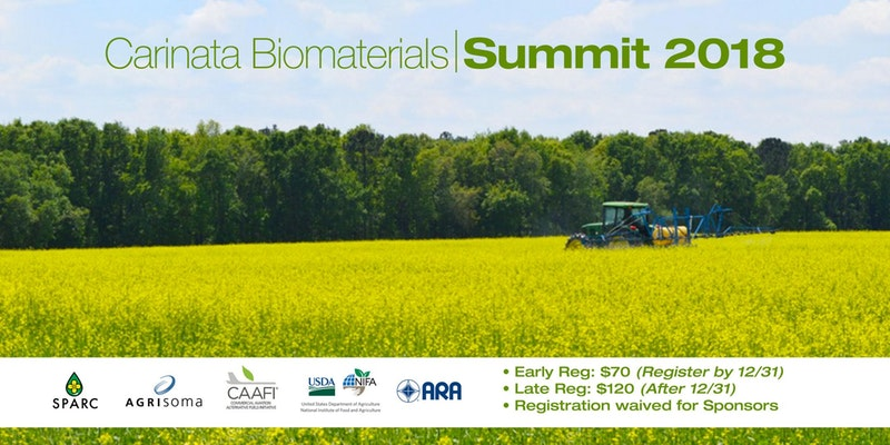 Carinata Biomaterials Summit 2018   —   February 19-20, 2018   —   Panama City Beach, FL