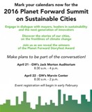 2016 Planet Forward Summit on Sustainable Cities  —  April 21-22, 2016  —  Washington, DC