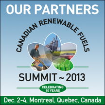 CALL FOR PAPERS: Canadian Renewable Fuels Summit 2013 December 2-4, 2013 Montreal, Quebec, Canada   DEADLINE: October 4, 2013