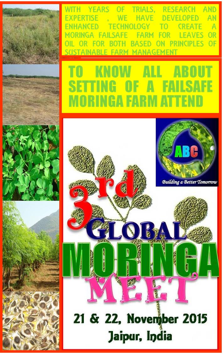 Global Moringa Meet 2015 — November 21 & 22, 2015 — Jaipur, India