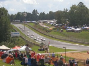 Coming into Turn 10 at Road Atlanta.