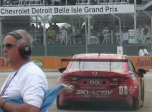 The winning #00 Mazda6 driven by Joel Miller and Tristan Nunez.