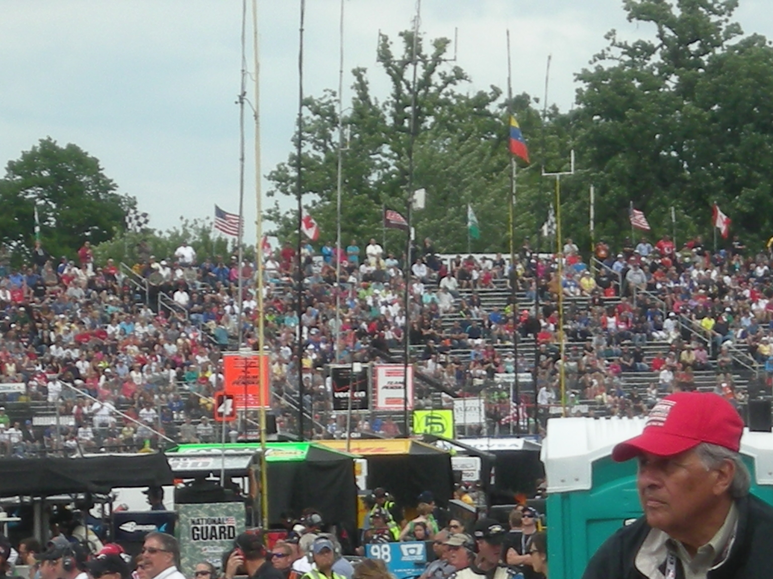 Many empty seats during the IndyCar race on Sunday.