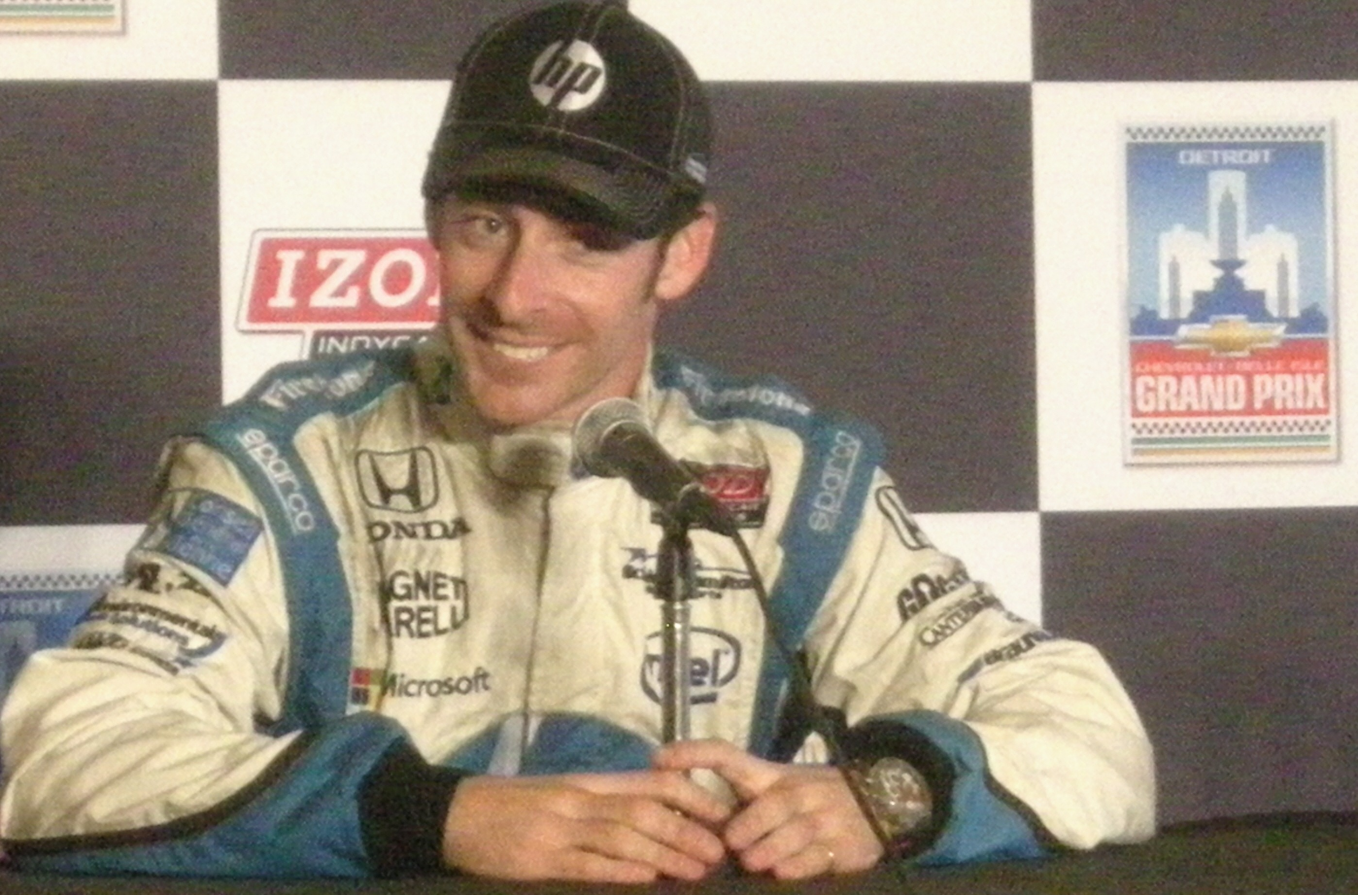Simon Pagenaud, winner of Sunday's IndyCar Dual in Detroit