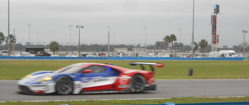 Ford GT at speed