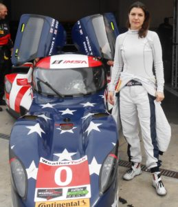 Katherine Legge, senior driver of the popular DeltaWing for the Rolex 24