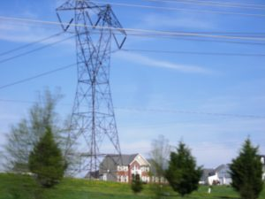 Electric Power Lines suburbia