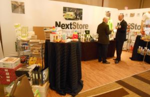 The NextStore in the exhibit hall showcased some results of the biofuels' industry pivot to biochemicals and bioproducts.