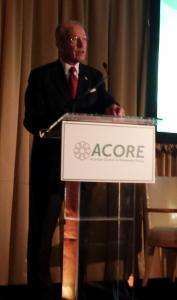 Senator Chuck Grassley accepts award at ACORE policy forum