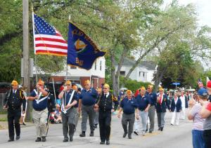 Euclid Veterans' Club marching in the 2015 Memorial Day parade