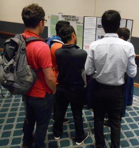 Intense interest in science fair poster session