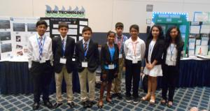 Students from Thomas Edison Energysmart Charter School who participated in the middle school science fair