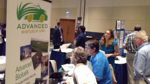 Joanne Ivancic demonstrates Advanced Biofuels USA website resources at the Energypath Expo