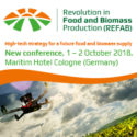 Revolution in Food and Biomass Production (REFAB)   —   October 1-2, 2018   —   Cologne, Germany