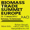 Biomass Trade Summit Europe 2019   —   January 16-17, 2019   —   Rotterdam, The Netherlands