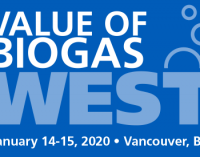 CALL FOR ABSTRACTS: Value of Biogas West Conference   —   January 14-15, 2020   —   Vancouver, British Columbia, Canada   DEADLINE:  September 27, 2019