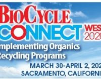 CALL FOR ABSTRACTS:  BioCycle Connect West 2020   —   March 30 – April 2, 2020   —   Sacramento, CA      DEADLINE:  December 31, 2019