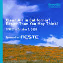 WEBINAR:  Clean Air in California? Easier Than You May Think!   —   October 1, 2020