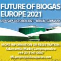 Future of Biogas Europe 2021   —   October 27-28, 2021   —   Berlin, Germany