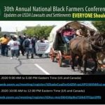 30th Annual National Black Farmers Association Conference: Reclaiming, Regaining and Regenerating Our Farms   —   October 30-31, 2020 and ONLINE