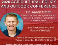 2020/2019 Agricultural Policy and Outlooks   —   November 9-13, 2020   —   ONLINE