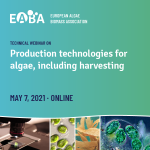Production Technologies for Algae Including Harvesting   —   May 7, 2021   —   ONLINE